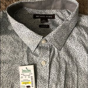 NWT 👔 Men's Michael Kors XL pattern lg sleeve